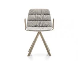 Maarten Chair Swivel Base Soft Upholstery & arms