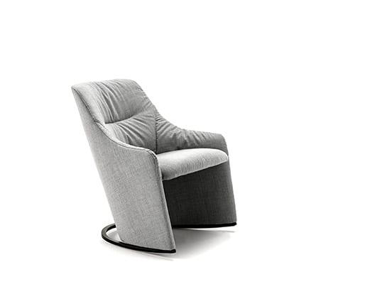 Nagi Low Rocking Armchair w. Soft Upholstery