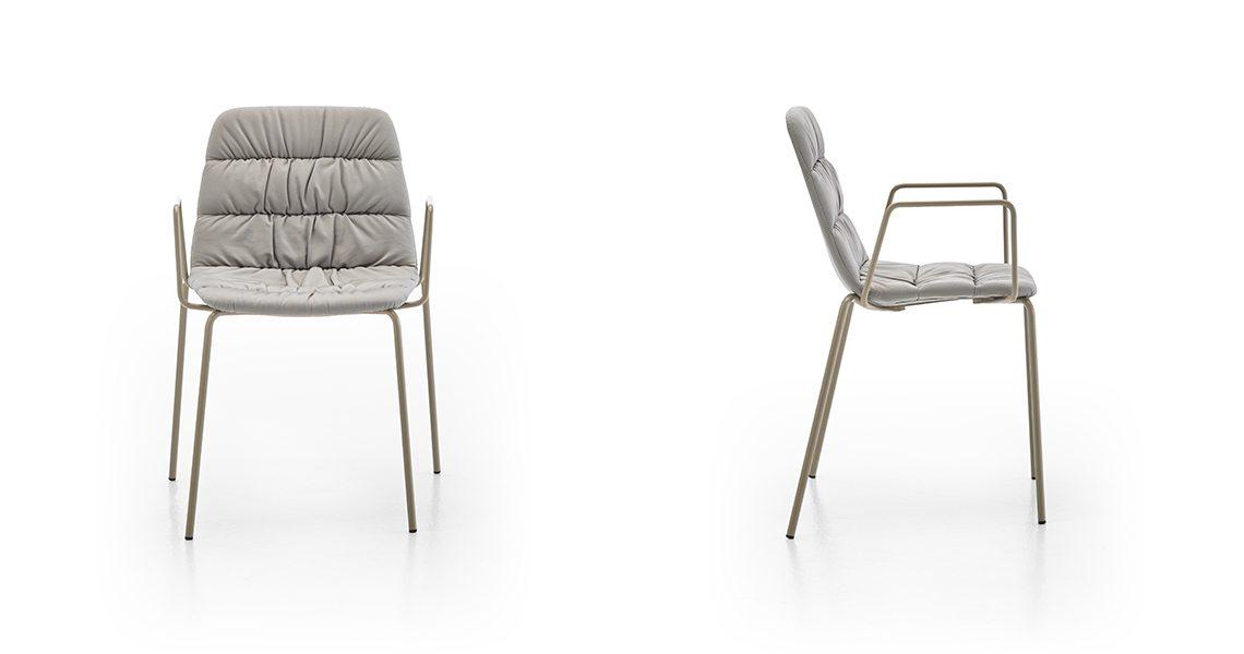 Maarten Chair 4 Legs, Soft Upholstery & Arms