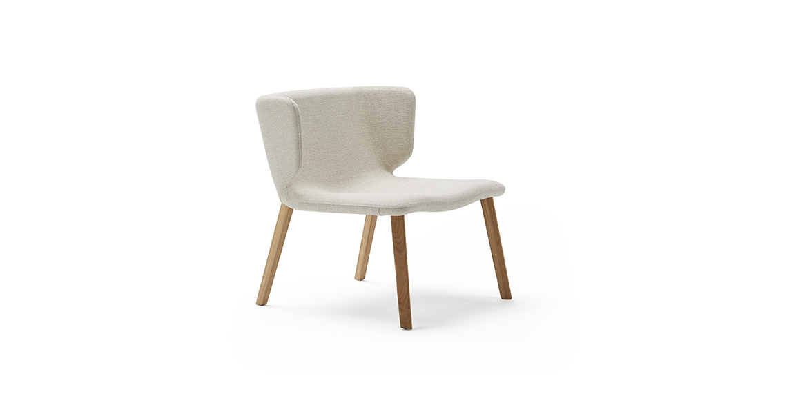 Wrapp Wooden Base Armchair