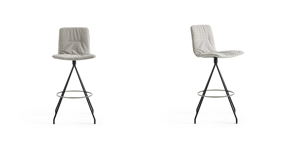 Klip Bar Stool Soft Upholstery
