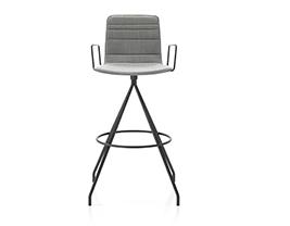 Klip Bar Stool w. Lines Upholstery