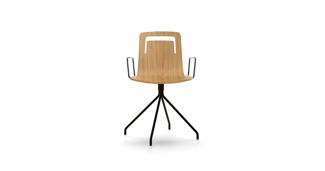 Klip chair swivel base and arms