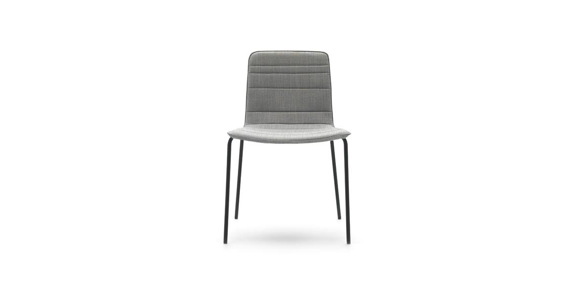 Klip Stuhl 4-Fußgestell, Gesteppter Bezug