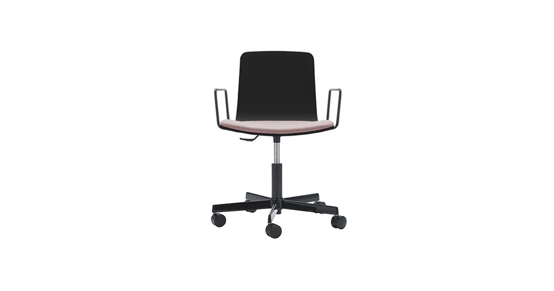 Klip Stuhl 5-Fußkreuz auf Rollen, Gepolsterter Sitz