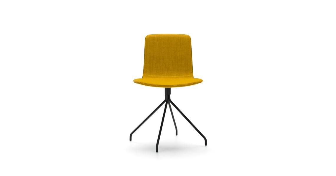 Klip Swivel Base Smooth Upholstery