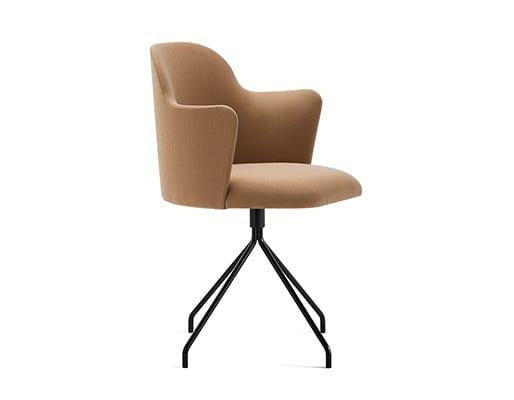 Aleta Swivel Base Chair w. Armrest