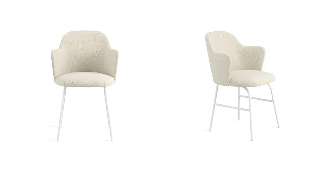 Aleta Metal Base Chair & Armrest