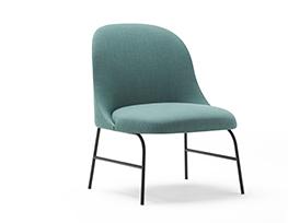 Aleta Lounge Chair Metal Base