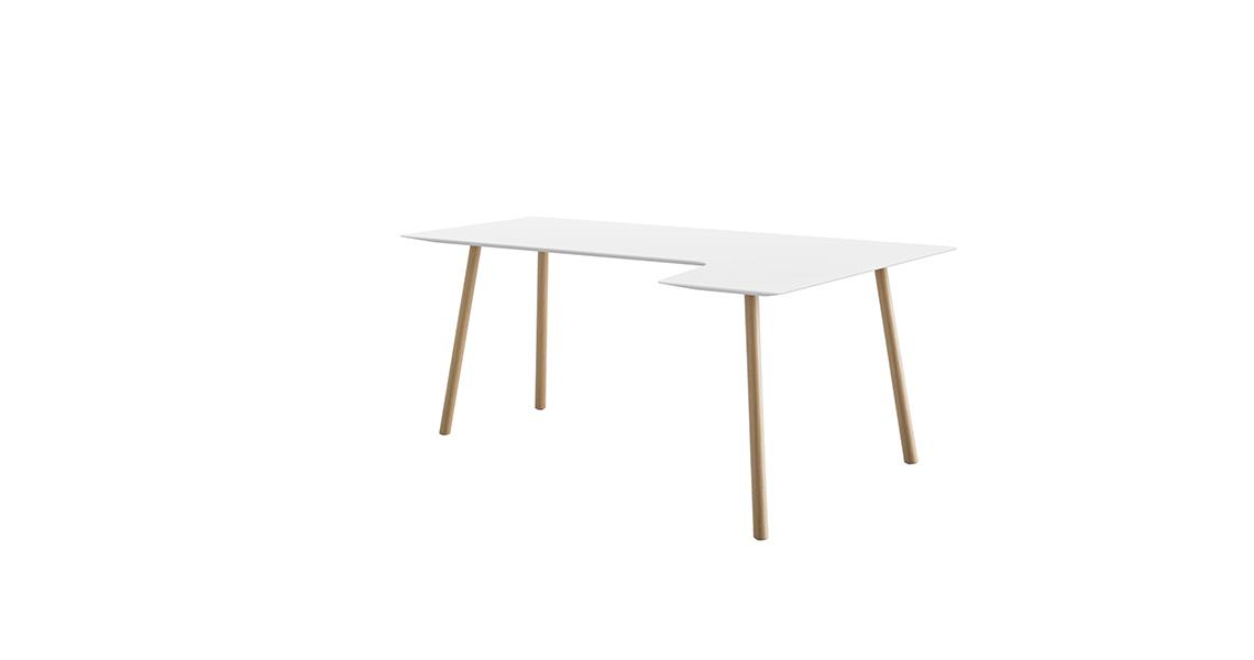 Maarten Return Table H74, 180×80