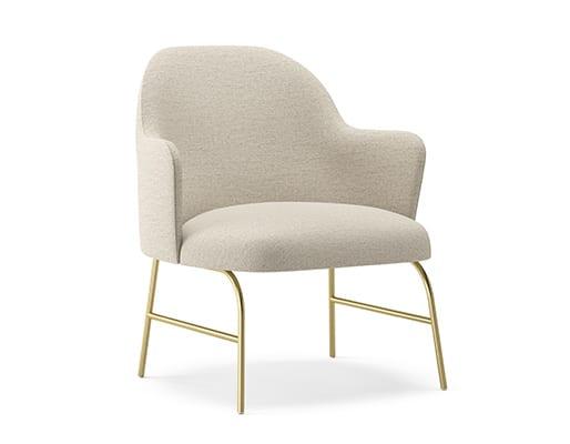 Aleta Metal Base Lounge Chair w. Armrest