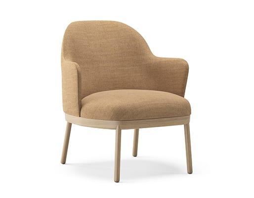 Aleta Wooden Base Lounge Chair w. Armrest