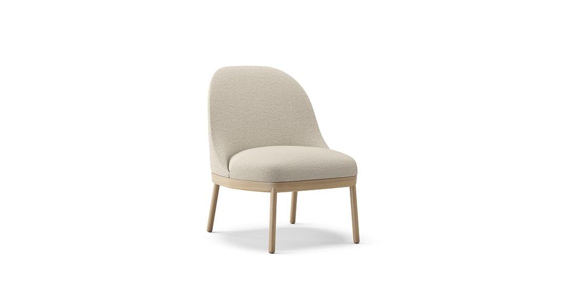 Aleta Wooden Base Lounge Chair