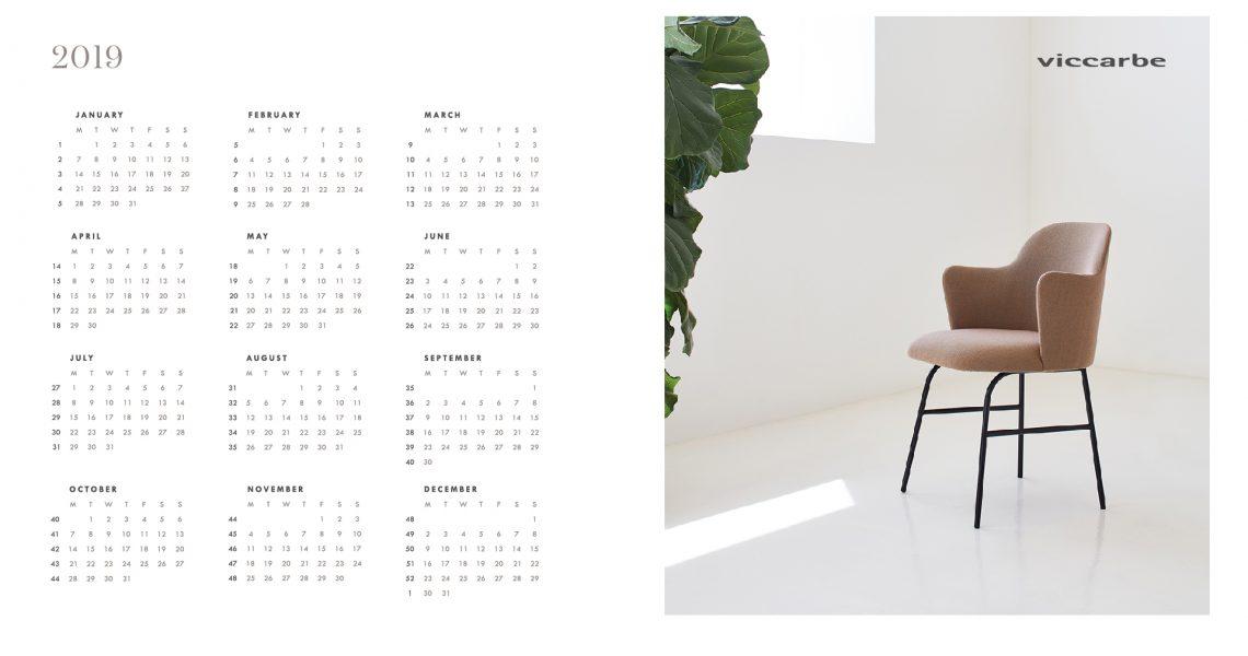 Viccarbe - Calendar 2019