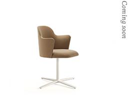 Aleta Chair Flat Swivel Base & Armsrests
