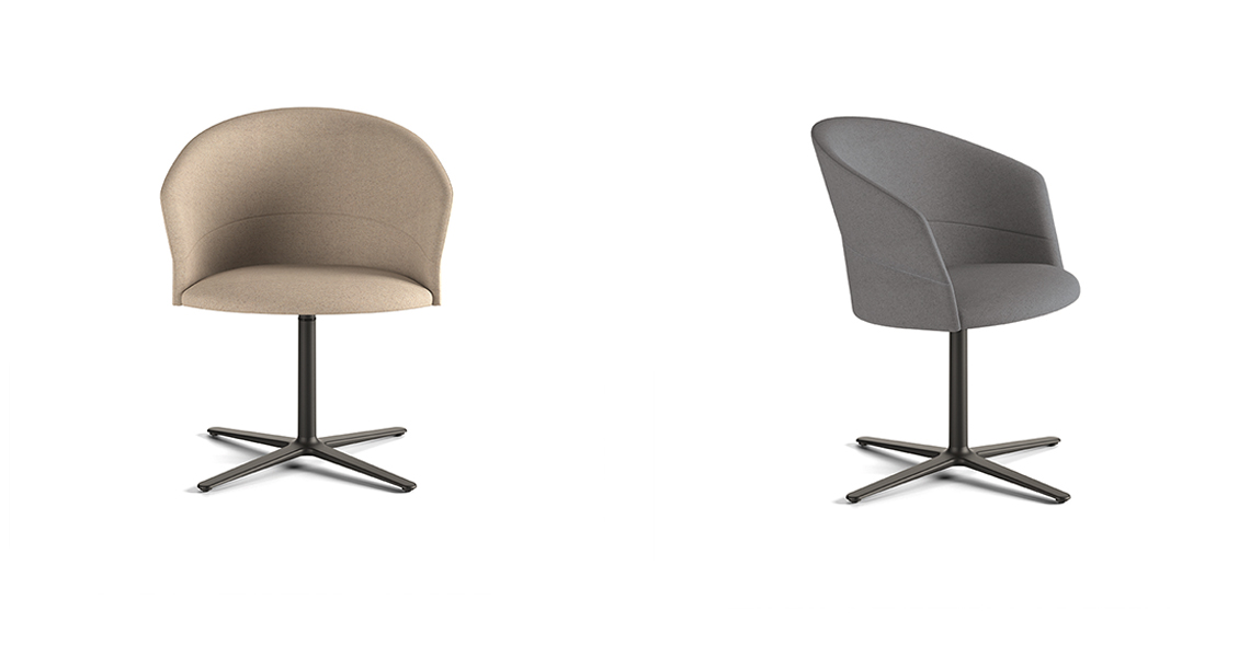 Copa Chair, Flat Swivel Base