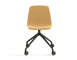 Maarten Chair Pyramid Casters Swivel Base Smooth Upholstery