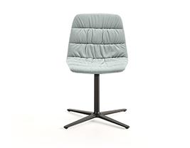 Maarten Chair Flat Swivel Base Soft Upholstery