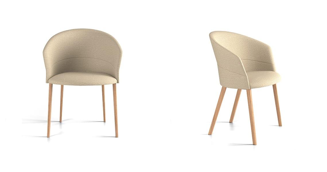 Copa Chair, Four Legs Wooden Base