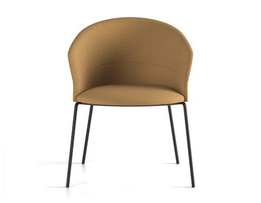 Copa Chair, Four Legs Metal Base