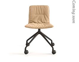 Klip Pyramid Casters Base Soft Upholstery