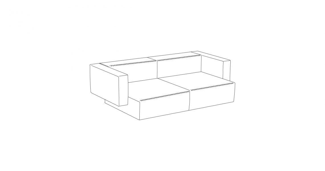 Step sofa – Konfiguration 2