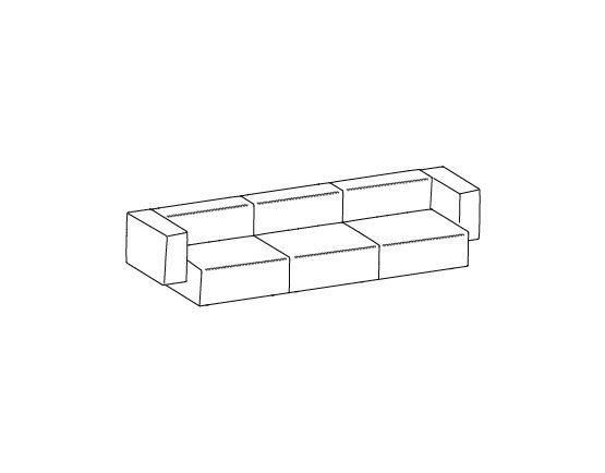 Step sofa – Composizione 3