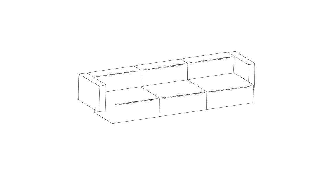 Step sofa – Composition 4