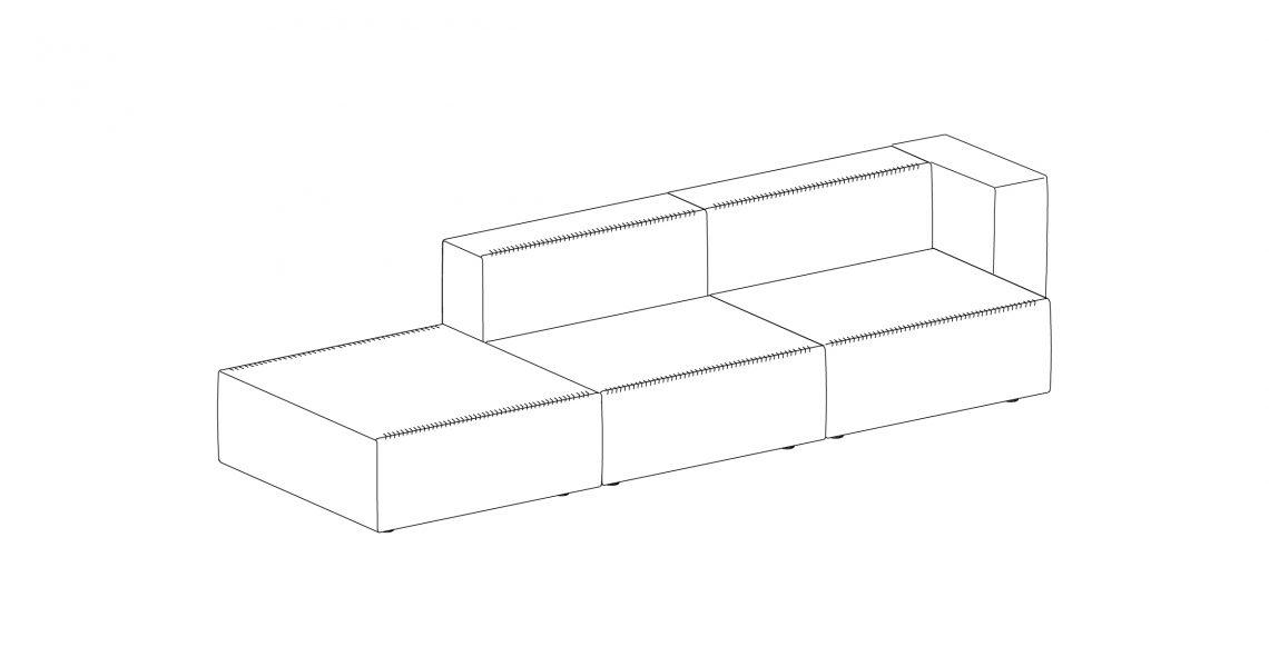 Step sofa – Composición 8