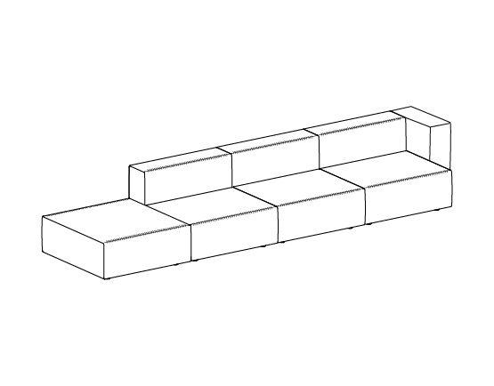 Step sofa – Composizione 9