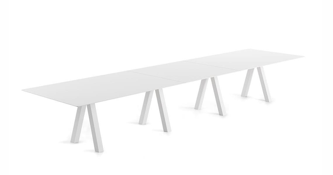 Trestle Triple Table – 120cm width