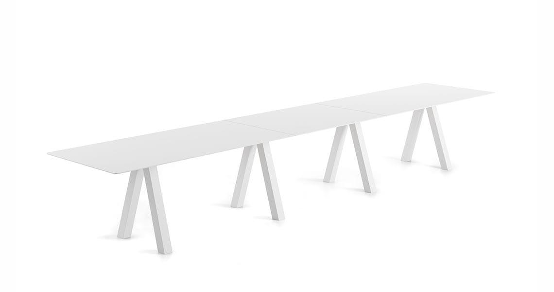 Trestle Triple Table – 90cm width