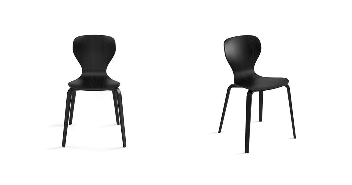 Ears Chair, 4 Wooden Legs
