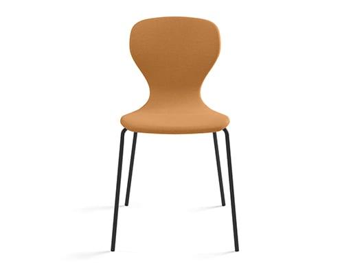 Ears Chair, 4 Metal Legs Smooth Upholstery