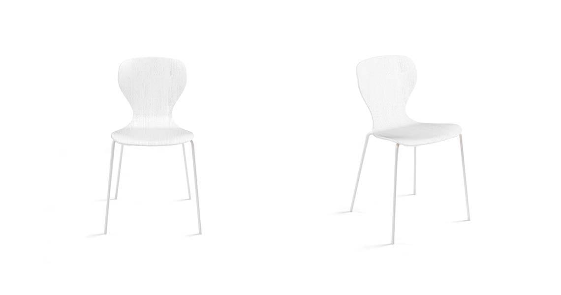 Ears Chair, 4 Metal Legs