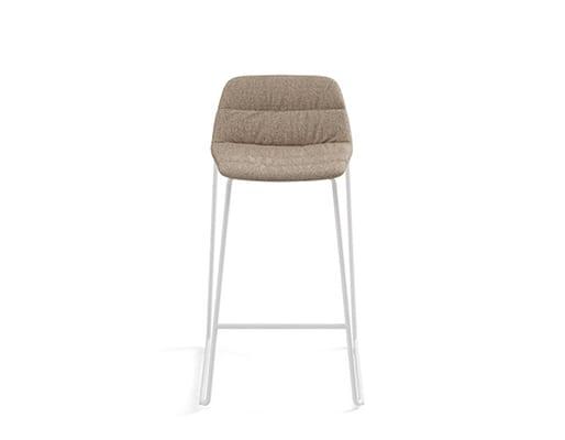 Maarten Counter Stool Low Backrest Sled Base, Soft Upholstery