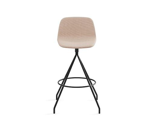 Maarten Swivel Counter Stool Low Backrest, Smooth Upholstery