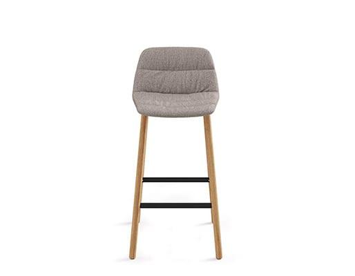 Maarten Counter Stool Four Legs Low Backrest, Soft Upholstery