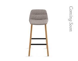 Maarten Counter Stool Four Legs Low Backrest Soft Upholstery