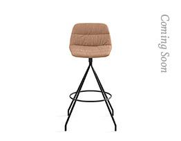 Maarten Swivel Counter Stool Low Backrest Soft Upholstery