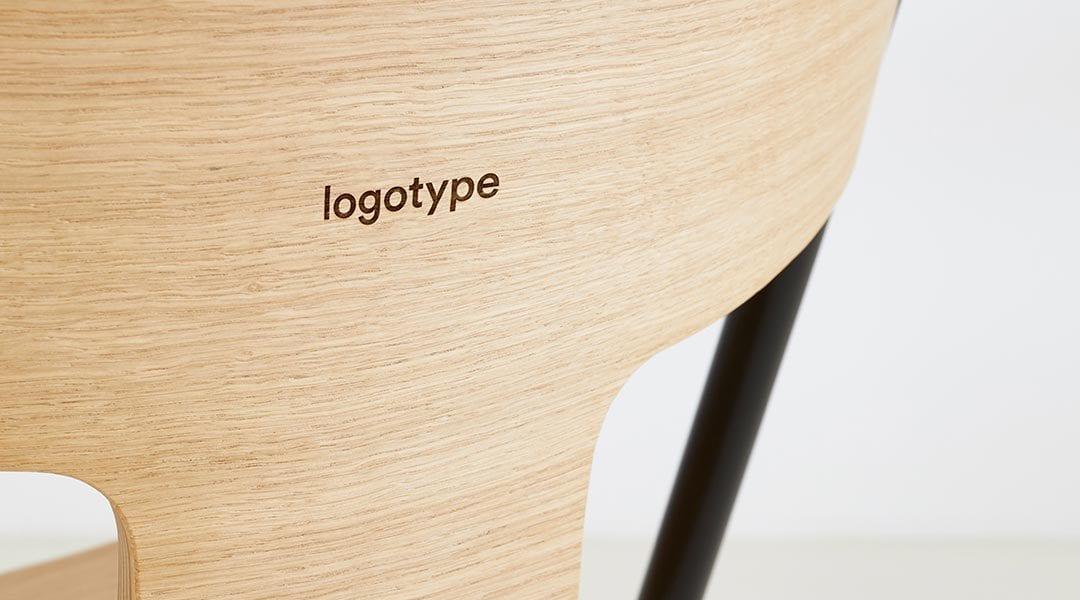 silla personalizada exclusiva logo
