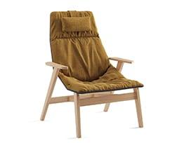 Ace armchair with headrest, Remix 433